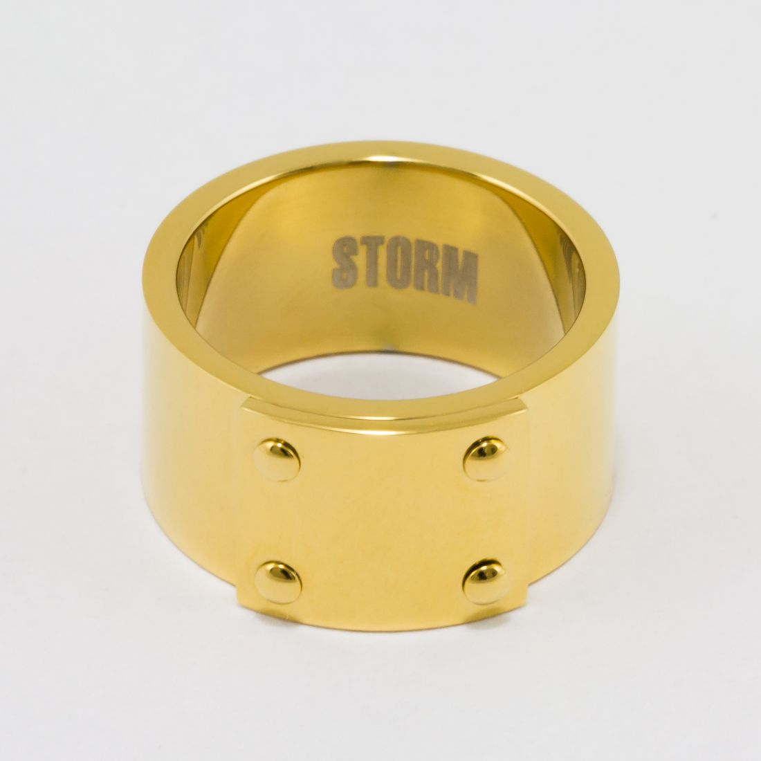 Ocelový prsten STORM RUMI Ring Gold ON00592